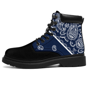 blue bandana boots for men