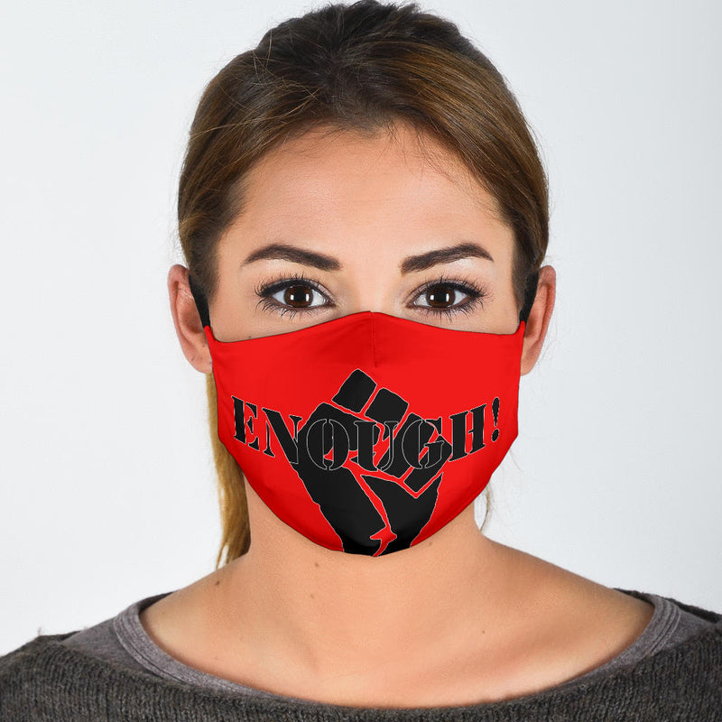 Protest Masks on Red or White