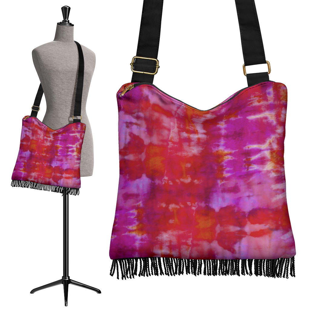 tie dye hippie crossbody bag