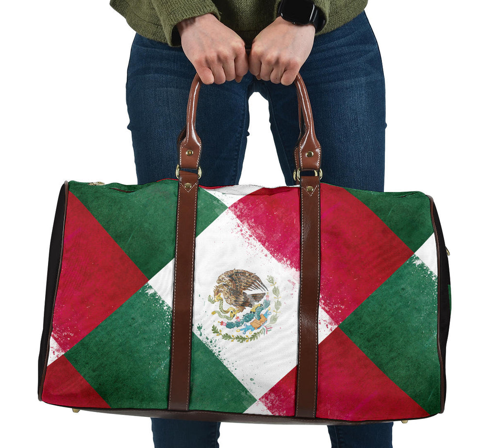 mexican flag travel bag