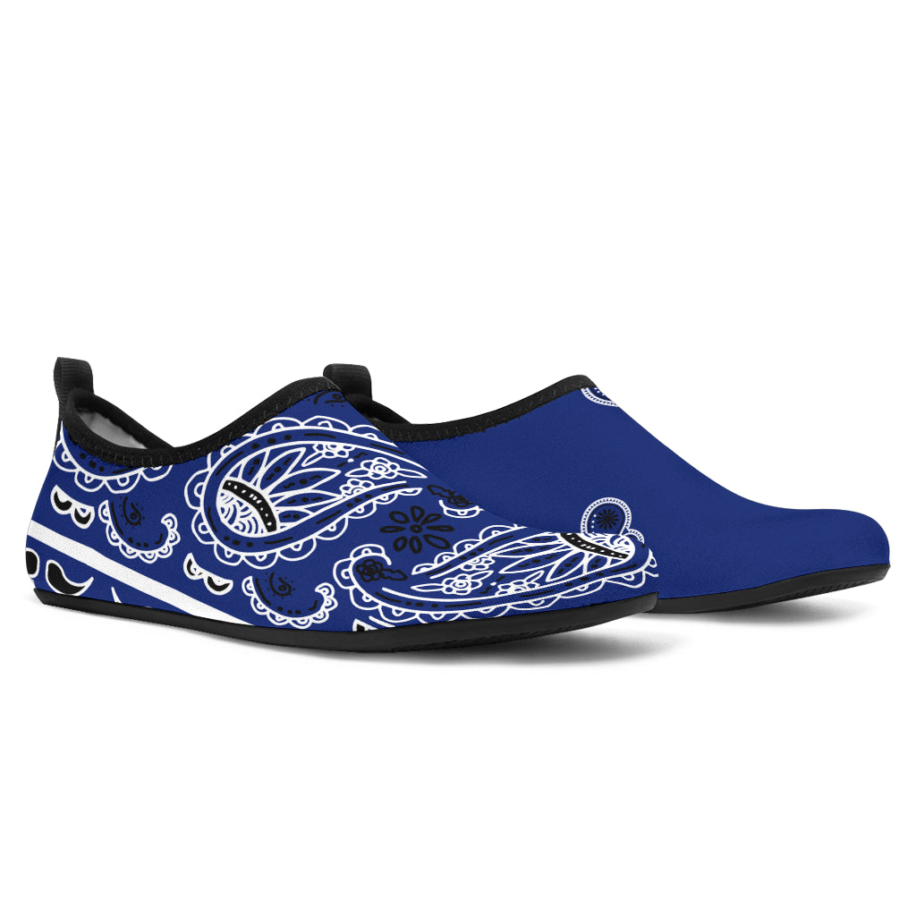 Royal Blue Bandana Wicked Asymmetrical Water Shoes