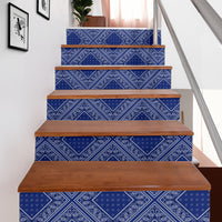 blue bandana decor stairway stickers
