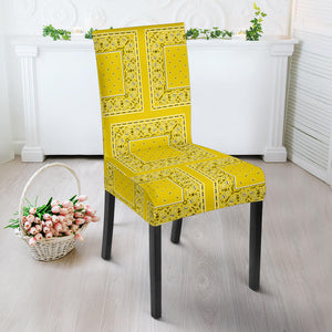 Yellow Bandana Dining Chair Slipcovers