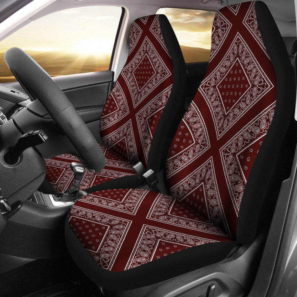 Burgundy car seat cover