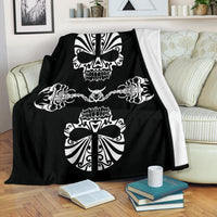 Skulls and Scorpions Tribal Fleece Throw Blanket
