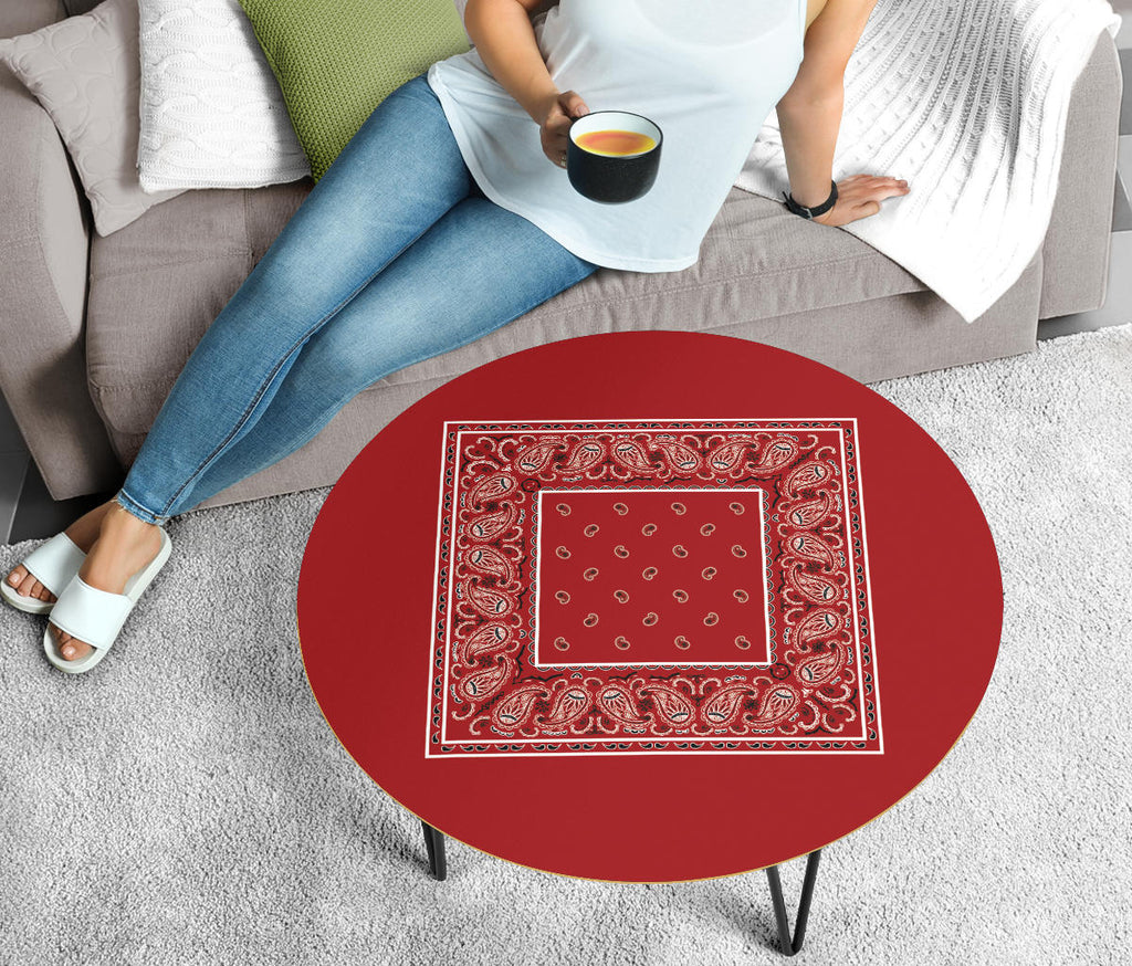 Red Bandana Round Coffee Tables