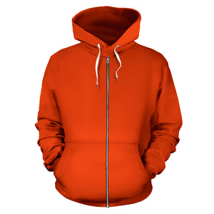 orange bandana zip hoodie front view