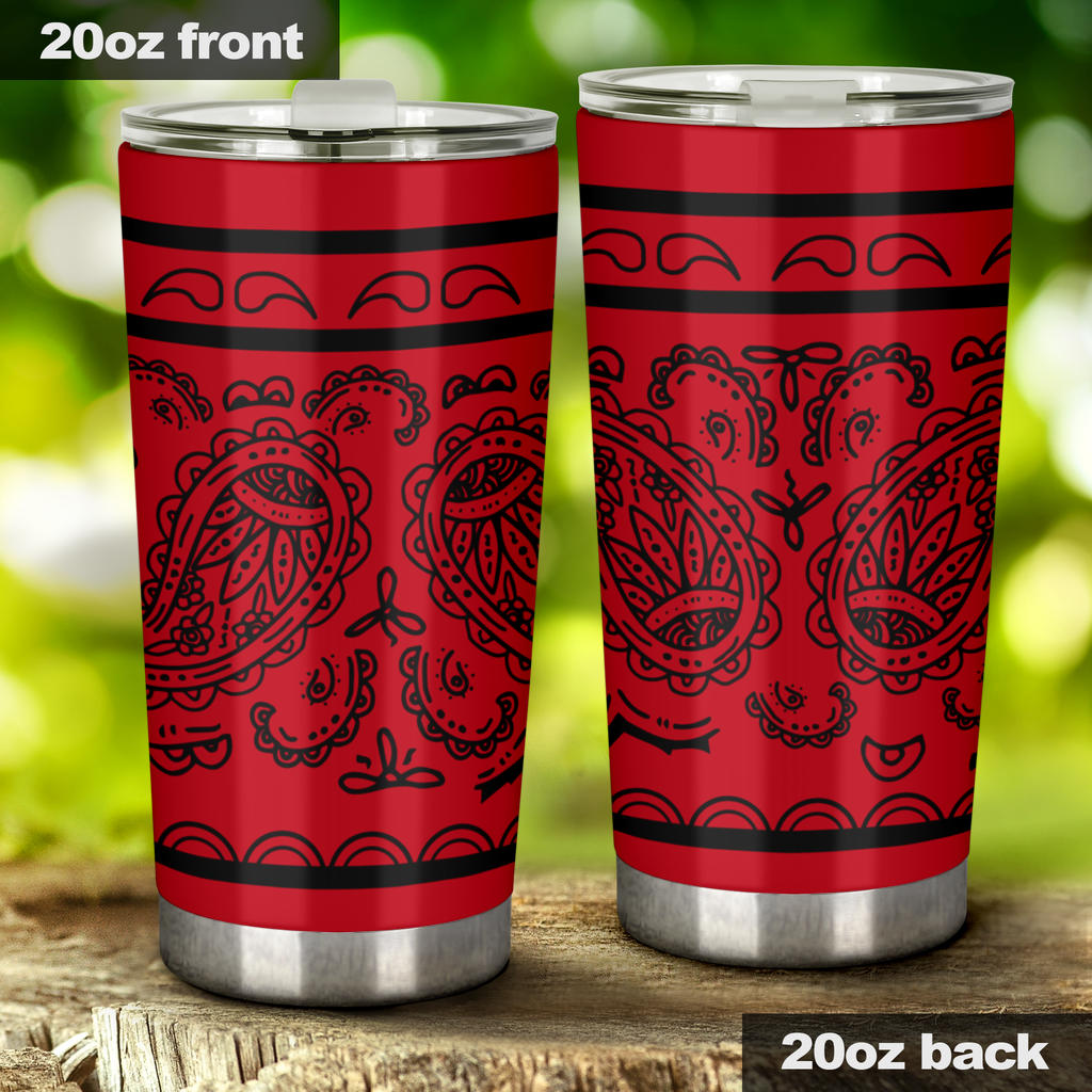 red bandana drinkware