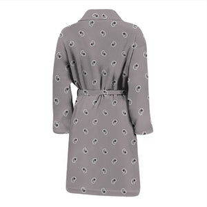 mens gray bandana bathrobe