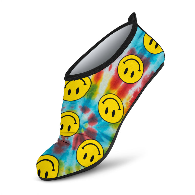 Ridiculously Happy Tie Dye Water Shoes - 2 Designs