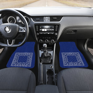 blue bandana lowrider car floor mats