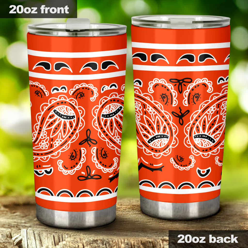 orange bandana drink tumblers