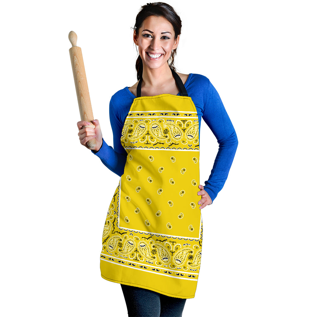 Yellow Big Bandana Apron