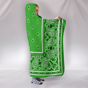 Green Bandana Hooded Blanket Side