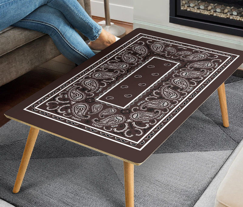 Brown Bandana Man Cave Coffee Table