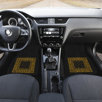black and gold bandana print auto floor mats