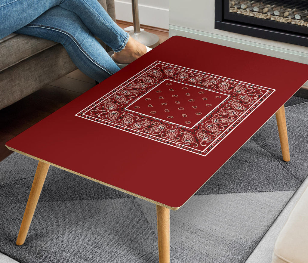 Maroon Red Coffee Table