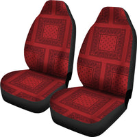 red with black bucket seat covers