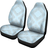 light blue car seat cover