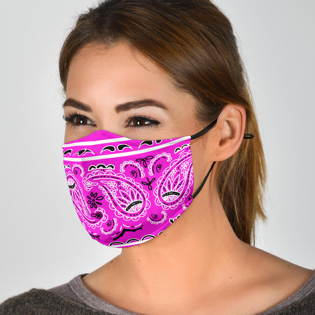 Edge Abruptly Pink Bandana Face Mask