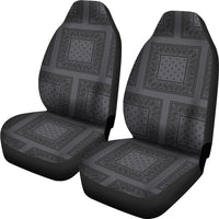 grey and black seat cover