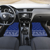 blue bandana muscle car floor mats