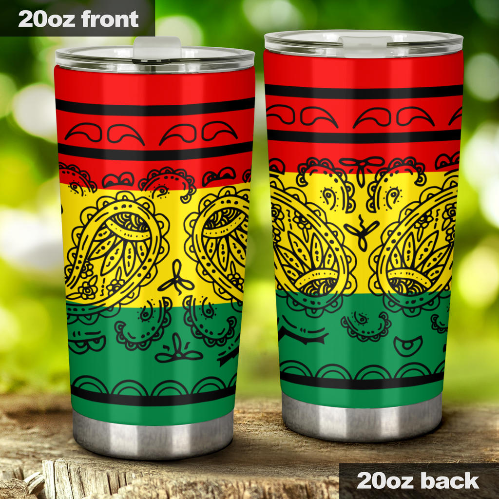 Rasta flag inspired tumbler