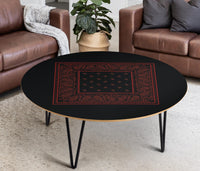 black bandana birch table