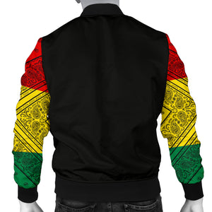 Men's Rasta Bandana Sleeved Bomber Jacket