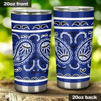 blue bandana insulated tumbler