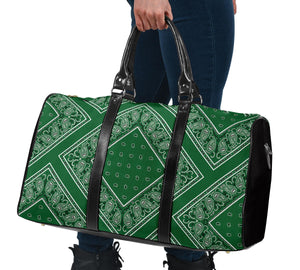 green bandana travel bag