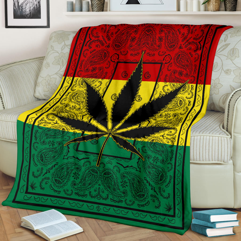 Marihuana Leaf 420 Bandana Throw Blanket