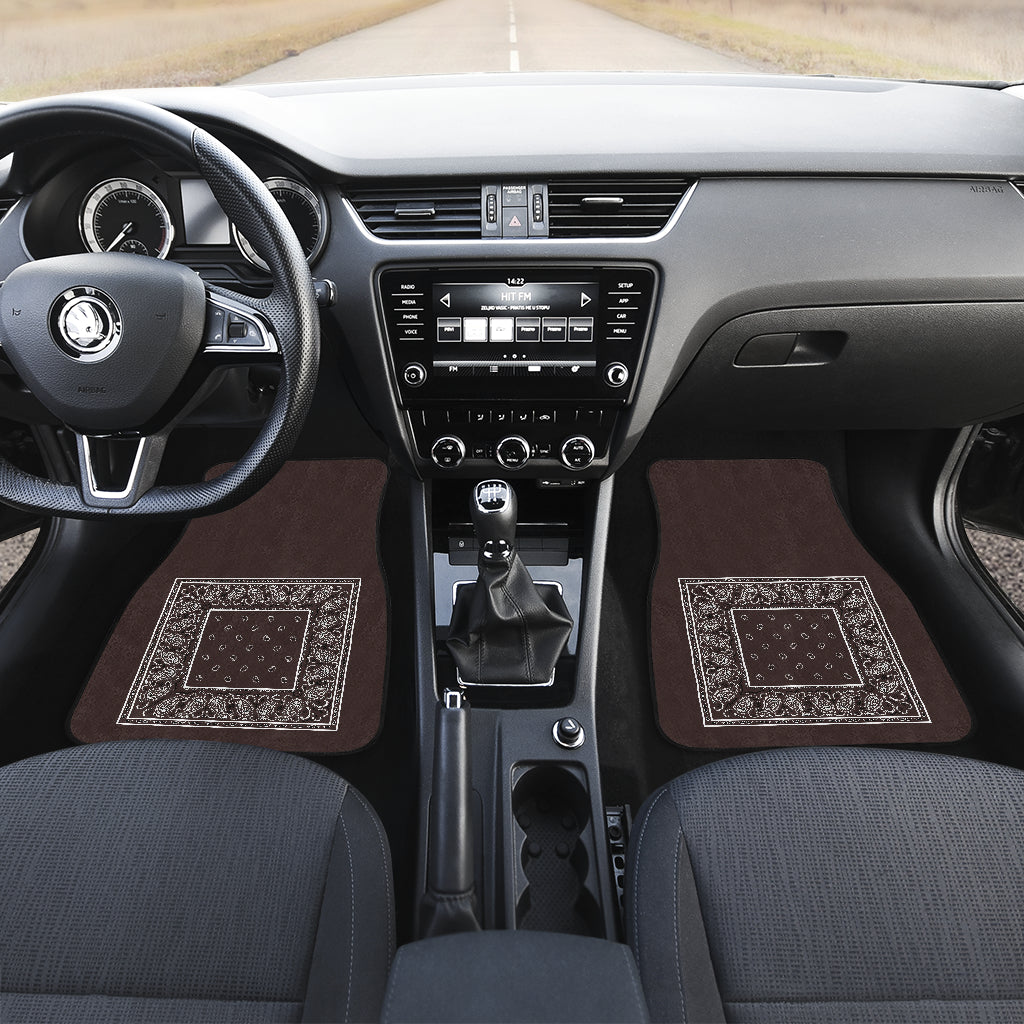 brown car mats
