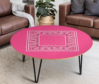 Pink Bandana Round Coffee Tables