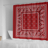 Red Bandana Shower Curtains