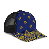 Blue and Gold Bandana Overload Mesh Back Cap