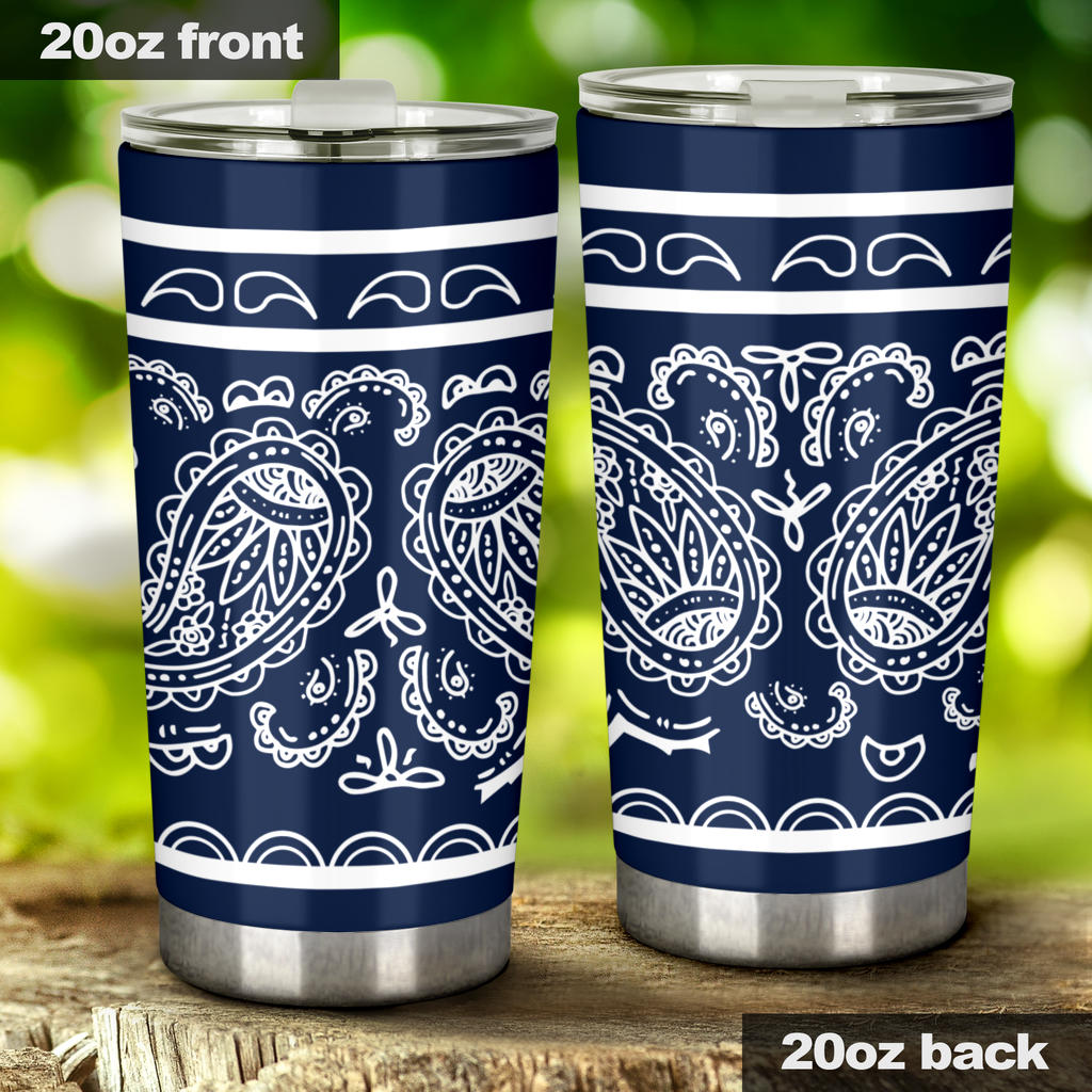 navy bandana insulated tumbler