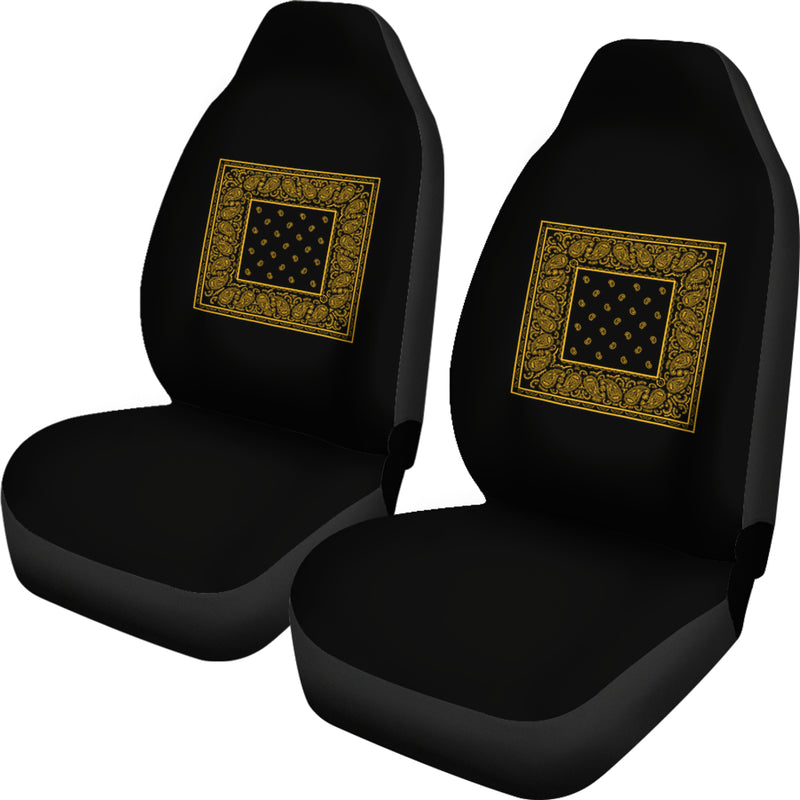 black and gold car seat cover