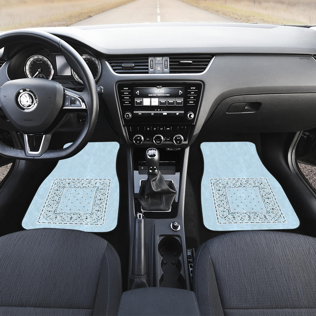 light blue auto car show floor mats