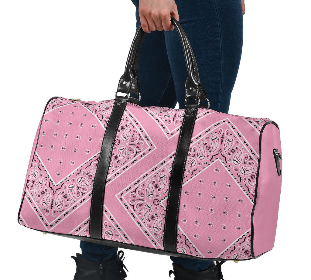 pink bandana carry on travel bags