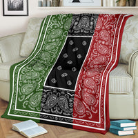 Ultra Plush Tri-Color Custom Bandana Throw