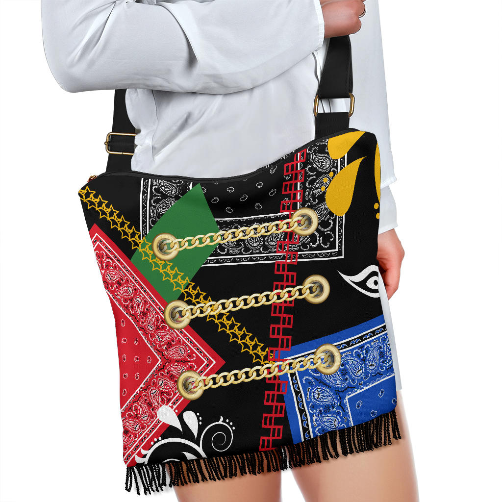 Abstract Harmony Bandana Crossbody Bag