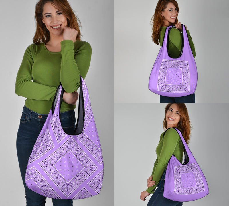 lilac purple shopping bag