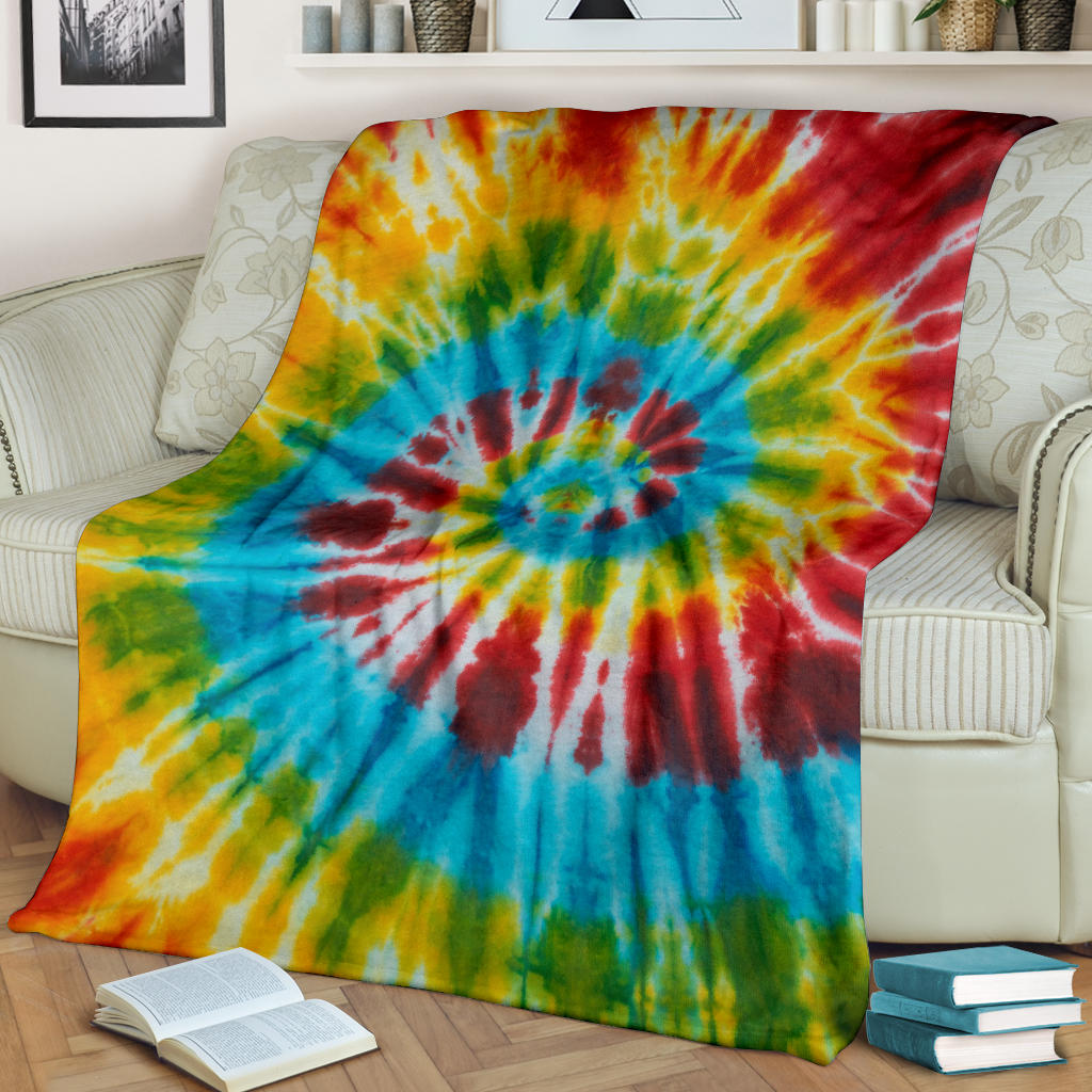 Classic Tie Dye Fleece Throw