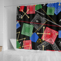 Abstract Hip Hop Inspired Shower Curtain