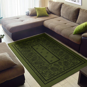 army green throw rugs