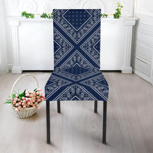 Navy Blue Bandana Kitchens Chair Slipcovers
