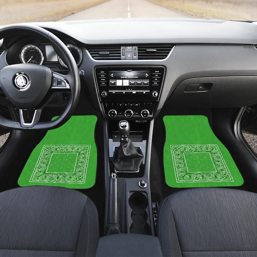 Green Bandana Lowlow Car Floor Mats