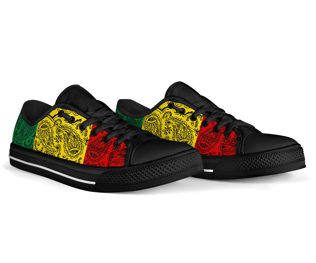 Rasta Bandana Low Top Sneakers