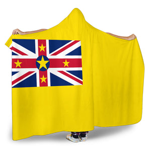 Ultimate Niue Flag Hooded Blanket